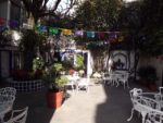 Courtyard of our Mexico City hotel